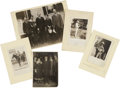 """Photography:Cabinet Photos, Calvin Coolidge and Family, Five Photographs, including: three realphoto postcards, 5.5"""" x 3.5"""", of Coolidge at his family ..."""