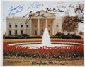 Autographs:U.S. Presidents, [Presidents and First Ladies] White House Photograph Signed byGeorge W. Bush, Bill Clinton, George Herbert Walker Bush, Jimmy...