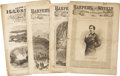 Books:Periodicals, [Abraham Lincoln] Illustrations from Harper's WeeklyAnnouncing Lincoln's Assassination, (New York: Harper Broth...(Total: 4 Items)