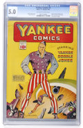 Golden Age (1938-1955):Superhero, Yankee Comics #1 (Chesler, 1941) CGC VG/FN 5.0 Off-white to white pages....