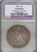 Seated Dollars: , 1849 $1 --Improperly Cleaned--NCS. XF Details. NGC Census: (5/194).PCGS Population (21/223). Mintage: 62,600. Numismedia Ws...