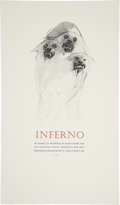 "Miscellaneous:Ephemera, Barry Moser Signed ""Inferno"" Exhibition Poster. Lithograph. 13.25 x23 inches. Signed in pencil. With the exception of a..."