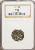 Proof Buffalo Nickels: , 1937 5C PR67 NGC. NGC Census: (323/35). PCGS Population (375/11).Mintage: 5,769. Numismedia Wsl. Price for NGC/PCGS coin i...