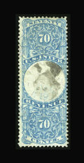 Stamps, #R117a, 1871, 70c Blue & Black. (Used)....