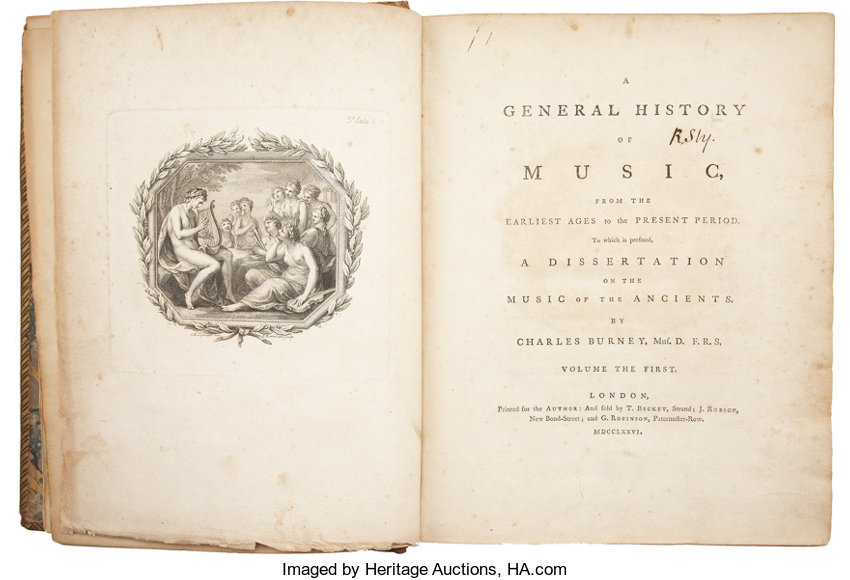 Charles Burney  A General History of Music, From the
