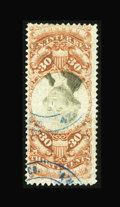 Stamps, #R140a, 1872, 30c Orange & Black. (Used)....