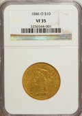Liberty Eagles: , 1846-O $10 VF35 NGC. NGC Census: (9/96). PCGS Population (10/36).Mintage: 81,780. Numismedia Wsl. Price for NGC/PCGS coin ...