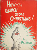 Books:Children's Books, Dr. Seuss. How the Grinch Stole Christmas. New York: RandomHouse, [1957]....