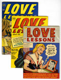 Golden Age (1938-1955):Romance, Love Lessons #1, 4, and 5 File Copies Group (Harvey, 1949-50)....(Total: 3 Comic Books)