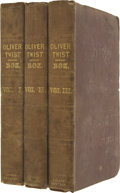 "Books:First Editions, Charles Dickens. Oliver Twist. By Charles Dickens. Author of""The Pickwick Papers."" In Three Volumes. London: Ri... (Total: 3Items)"
