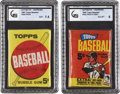 Baseball Cards:Other, 1963 & 1965 Topps 5-Cent Unopened Wax Packs Pair (2). ...