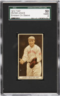 Baseball Cards:Singles (Pre-1930), 1912 T207 Brown Background Irving Lewis With Emblem SGC 50 VG/EX4....