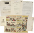 Autographs:Military Figures, U.S. WWI and WWII Military Hero Group of Three Typed Letters Signed by Alvin York, Hap...