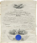 Autographs:U.S. Presidents, William McKinley Marine Corps Commission Signed as the twenty-fifthpresident and countersigned by Secretary of the Navy J...