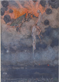 WILLIAM HEATH ROBINSON (English 1872 - 1944) Tomlinson, The Collected Verse of Rudyard Kipling, book illustrati