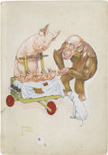 Paintings, LAWSON WOOD (English 1878 - 1957). Gran'pop. children's book illustration, c. 1940. Gouache on board. 15 x 10 in.. Signe...