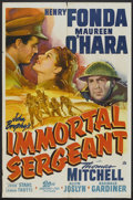 "Movie Posters:War, Immortal Sergeant (20th Century Fox, 1943). One Sheet (27"" X 41"").War.. ..."