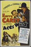 """Movie Posters:Western, Aces Wild (Astor, R-1948). One Sheet (27"""" X 41""""). Western.. ..."""