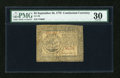 Colonial Notes:Continental Congress Issues, Continental Currency September 26, 1778 $5 PMG Very Fine 30....