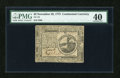 Colonial Notes:Continental Congress Issues, Continental Currency November 29, 1775 $2 PMG Extremely Fine 40....