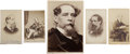 Photography, [Charles Dickens]. Lot of Five Photographs, including: Five carte-de-visite sepia-toned images ranging in size from 2 x ... (Total: 5 Items)