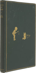 Books:First Editions, A. A. Milne. Winnie-The-Pooh. London, 1926. First edition.Illustrations. Original green cloth. Light wear to bo...
