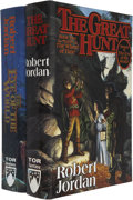Books:First Editions, Robert Jordan. The First Two Volumes of The Wheel of Time Series,including: The Eye of the World. [and:] The Gr... (Total:2 Items)