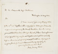 "Autographs:U.S. Presidents, John Quincy Adams Autograph Letter Signed as Secretary of State.One page, 7"" x 6.75"", Washington, May 15, 1823. Adams write..."