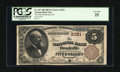 National Bank Notes:Pennsylvania, Brookville, PA - $5 1882 Brown Back Fr. 467 The NB of BrookvilleCh. # 3051. ...