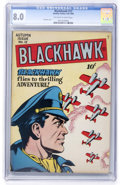 Golden Age (1938-1955):War, Blackhawk #12 (Quality, 1946) CGC VF 8.0 Off-white to whitepages....