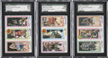 Basketball Cards:Lots, 1980-81 Topps Basketball SGC-Graded Collection (3)....