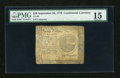 Colonial Notes:Continental Congress Issues, Continental Currency September 26, 1778 $20 PMG Choice Fine 15....