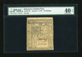 Colonial Notes:Delaware, Delaware January 1, 1776 20s PMG Extremely Fine 40 EPQ....