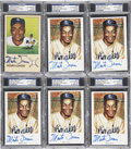 Autographs:Post Cards, Monte Irvin Signed Postcards PSA/DNA Certified Collection (6). ...
