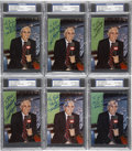 Autographs:Post Cards, Phil Rizzuto Signed Postcards PSA/DNA Certified Collection (6). ...
