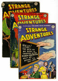 Golden Age (1938-1955):Science Fiction, Strange Adventures Group (DC, 1952-54) Condition: Average GD....(Total: 13 Comic Books)
