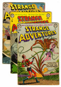 Golden Age (1938-1955):Science Fiction, Strange Adventures Group (DC, 1954) Condition: Average GD....(Total: 7 Comic Books)