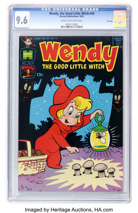 Wendy, the Good Little Witch #44 File Copy (Harvey, 1967) CGC NM+ 9.6 Cream to off-white pages....