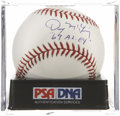Autographs:Baseballs, Denny McLain Single Signed Baseball PSA NM-MT+ 8.5....