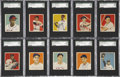 Baseball Cards:Lots, 1949 Bowman Baseball Collection (17)....