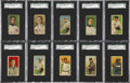 Baseball Cards:Lots, 1910-1919 T213 Coupon Cigarettes Collection (18) Including Examplesfrom all Three Types....