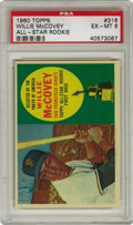 Baseball Cards:Singles (1960-1969), 1960 Topps Willie McCovey All-Star Rookie #316 PSA EX-MT 6. Anotherquality rookie card from the 1960 Topps baseball issue ...