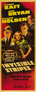 "Movie Posters:Crime, Invisible Stripes (Warner Brothers, 1939). Insert (14"" X 36""). ..."