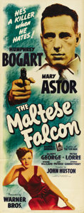 "Movie Posters:Film Noir, The Maltese Falcon (Warner Brothers, 1941). Insert (14"" X 36"")...."