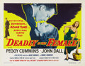 "Movie Posters:Film Noir, Deadly Is The Female (United Artists, 1949). Half Sheet (22"" X28""). Style B. Before ""Gun Crazy"" was eventually retitled (pr..."