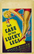 "Movie Posters:Crime, The Case of the Lucky Legs (First National, 1935). Window Card (14""X 22""). ..."