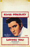 "Movie Posters:Elvis Presley, Loving You (Paramount, 1957). Window Card (14"" X 22""). ..."