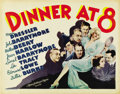 "Movie Posters:Comedy, Dinner at Eight (MGM, 1933). Half Sheet (22"" X 28""). ..."