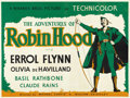 "Movie Posters:Adventure, The Adventures of Robin Hood (Warner Brothers, 1938). British Quad(30"" X 40""). ..."