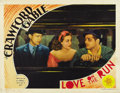 """Movie Posters:Comedy, Love on the Run (MGM, 1936). Lobby Cards (3) (11"""" X 14""""). ...(Total: 3 Items)"""